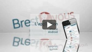 Vidéo sur les applications smartphones Brest et Vous